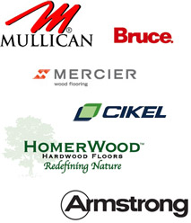 Major Hardwood brands installed by A and N Flooring